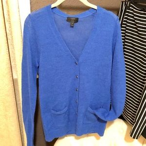J Crew Blue Lightweight Cardigan
